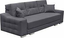 Modernes Schlafsofa Cypis Sofa mit Bettkasten und Schlaffunktion, Bettsofa, Design Schlafcouch, Wohnlandschaft, Polstersofa (Novel 13)