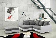 Modernes Sofa Couch Ecksofa Eckcouch in weiss