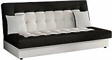 Modernes Sofa Neo mit Bettkasten und Schlaffunktion, Lounge Couch, Bettsofa Schlafcouch Schlafsofa (D511 + D8)