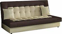 Modernes Sofa Neo mit Bettkasten und Schlaffunktion, Lounge Couch, Bettsofa Schlafcouch Schlafsofa (D100 + D33)