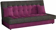 Modernes Sofa Neo mit Bettkasten und Schlaffunktion, Lounge Couch, Bettsofa Schlafcouch Schlafsofa (Lux 16 + Lux 06)