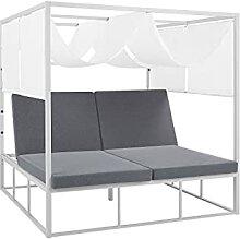 Modernes Sonnenbett aus Aluminium Doppelte