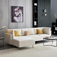 Modernes Stoffsofa, L-förmiges Sofa, 276 cm,
