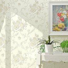 Modernes Tapete Einfache elegante Wallpapers muralpapel parede Vlies Wand Papier Home Decor für Wohnzimmer Schlafzimmer TV Hintergrund Wand 0,53m (52,8cm) * 10Mio. (32,8') = 5.3sqm (66sqfeet), Wallpaper only, Elegant Ivory [181007]