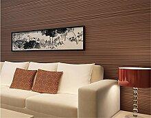 Modernes und einfaches vertikalen Streifen beflockte Tapete Uni Farbe Vliestapete Schlafzimmer Wohnzimmer TV Hintergrund Wand, braun