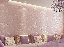 Modernes und einfaches Vliestapete TV Hintergrund Tapete Garten Schlafzimmer Warm Stereo pianfei Tapete Wand Aufkleber, rosa