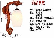Modernes Wandlampe Antik Massivholz Led Wandlampe
