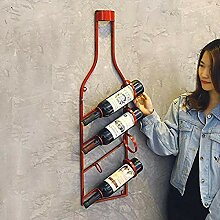 Modernes Weinregal aus Metall Dekoratives