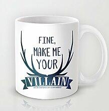 Modernes Weiß Muster Kaffee Tasse mit Sprüchen 11Oz Keramik Kaffee Becher Zitat für Milch Saft Tee Tasse Geschenk für Weihnachten Geschenke für Männer Geschenk für Frauen