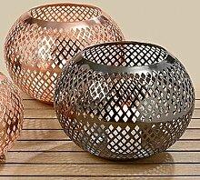 Modernes Windlicht Cadie Eisen Teelichthalter Kerzenhalter Geschenkidee (kupfer)