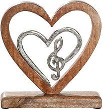 modernes Wohnaccessoire Notenschlüssel in Herz