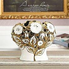 Modernes Wohnzimmer Keramik Vase, weiß, Kleine Größe für Mittelstücke Weihnachten Geburtstag Hochzeit Party Geschenk Desktop Home Decor