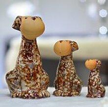 Modernes Wohnzimmer TV-Schrank Schrank Zubehör Heimtextilien partition Dekoration kreative Brennofen Keramik Lucky Dog Ornamente, Gelb gefleckten Hund