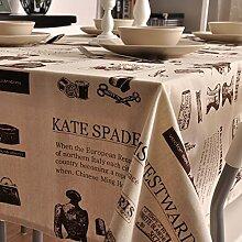 Modernes zuhause tischtuch vintage tischdecke stoff baumwolle leinen teetisch längliche tischdecke-verschiedene stile.-E 140x200cm(55x79inch)