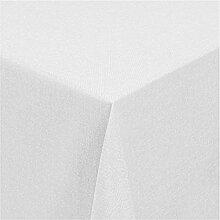 """Moderno Leinen Tischdecke eckig 130x190 cm im Damast Stil Farbe """"Weiss"""