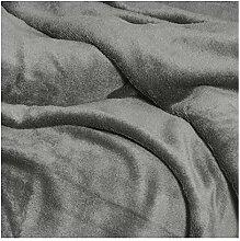 Moderno® Mikrofaser Kuscheldecke mit Ärmeln | TV Decke Sofadecke Wohndecke Tagesdecke 150 x 240cm in Anthrazit Grau | Premium Qualität | OEKO-TEX Standard 100 für Textiles Vertrauen
