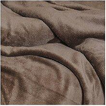 Moderno® Mikrofaser Kuscheldecke mit Ärmeln   TV Decke Sofadecke Wohndecke Tagesdecke 150 x 240cm in Braun   Premium Qualität   OEKO-TEX Standard 100 für Textiles Vertrauen