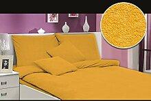 MODHAUS Bettwäsche Set Frottee einfarbig schöne