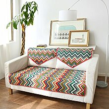 Modische amerikanische sofa-matte,stoff sitzkissen,four seasons anti-slip sofa handtuch cover,kissen-A 70x180cm(28x71inch)
