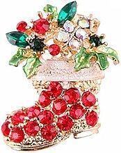 Modische Brosche mit Weihnachtsstiefeln,