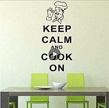 Modische Cook Home Dekorationen Pvc Aufkleber Für