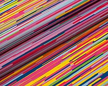 Modische Druckmotive im digitalen Direktdruck, 0,50 lfm Polster- oder Dekostoff mit Muster oder Grafiken - MULTICOLOR 01