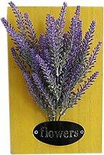 Modische künstliche Pflanze Ornamente Räume Wanddekoration, gelber Lavendel