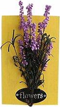 Modische Künstliche Pflanze Ornamente Zimmer Wanddekoration, Lila Lavendel