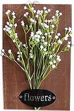 Modische künstliche Pflanze Ornamente Zimmer Wanddekoration, weiße Blumen