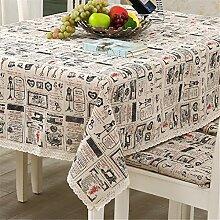 Modische moderne gravierte Retro dekorative Tischtücher für quadratischen Tisch 140 x 140cm