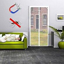 MODKOY Fliegengitter Vorhang meterware 140x220cm,