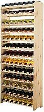 MODO24 Weinregal Flaschenregal Weinschrank für 91