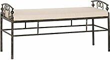 Modular flo048.31 Sitzbank, Metall, schwarz, 48 x 130 x 51 cm