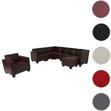 Modular Sofa-System Couch-Garnitur Lyon 6-1-1,