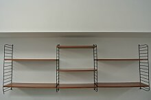Modulares Mid-Century Wand- Bücherregal, 1960er
