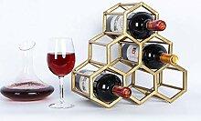 Modulares Weinregal aus Schmiedeeisen -
