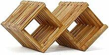 Modulares Weinregal - Massivholz Weinregal