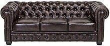 Möbel Akut Chesterfield Sofa 3 Sitzer braun Couch