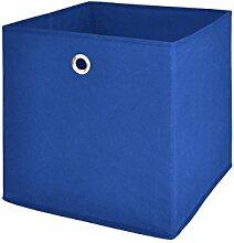 Möbel Akut Faltbox 4er Set in blau,