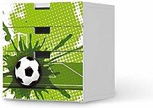 Möbel-Aufkleber Folie für IKEA Stuva Kommode - 3 Schubladen (Kombination 1)   Klebefolie Kindermöbel Dekoration   Fröhliche Einrichtungsideen IKEA Möbelfolie Kinder-Zimmer Deko Wohnung   Kids Kinder Goal