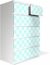 Möbel Aufkleber für IKEA Malm Kommode 80x123cm