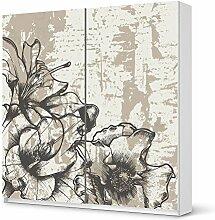Möbel-Aufkleber IKEA Pax Schrank 201 cm Höhe - Schiebetür / Design Sticker Styleful Vintage 1 / selbstklebende Dekoration