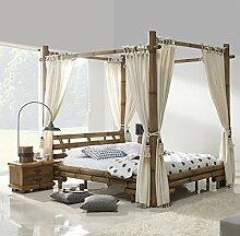 Möbel Bressmer Bambus Himmelbett 140x200 Tabanan