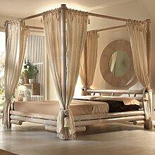 Möbel Bressmer Bambus Himmelbett in Weiß |