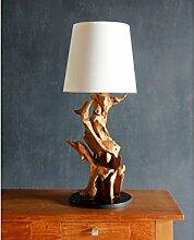 Möbel Bressmer Wurzelholz Lampe 75cm aus echtem