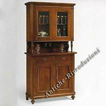 Möbel Buffet, Buffetschrank, Küchenbuffet, 2 Türen cm 113x47, h 103, oben Teil cm 112x43, h 110