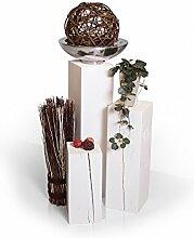 moebel-eins Blumensäule 3-er Set aus Holz Fichte