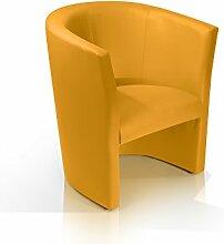 moebel-eins CHARLY Cocktailsessel Polstersessel Sessel Polsterstuhl Stuhl in gelb, gelb