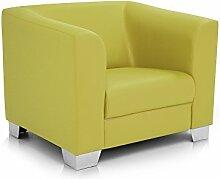 moebel-eins CHICAGO Sessel/Ledersessel, grün