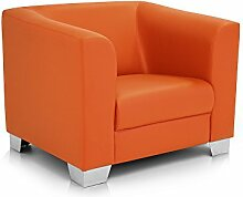 moebel-eins CHICAGO Sessel/Ledersessel, orange